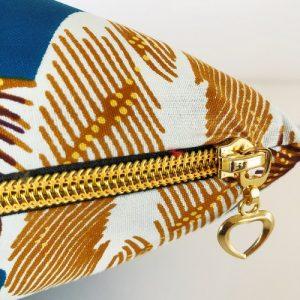 Pude Abena med flot guldfarvet lynlås - fra Mitomito