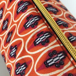 Makeup-pung og toilettaske Joyce med flot guldfarvet lynlås - fra Mitomito