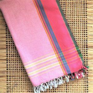 Kikoi-håndklæde lyserød