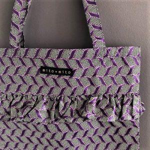 Flæsenet Dara med fint lilla print fra Mitomito