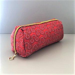 Makeup-pung Isabell i rød, lyserød, bordeaux, guldglimmer fra Mitomito