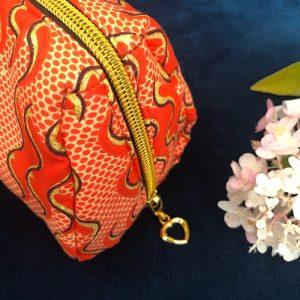 Makeup-pung Zoe med glimmer og guldlynlås fra Mitomito