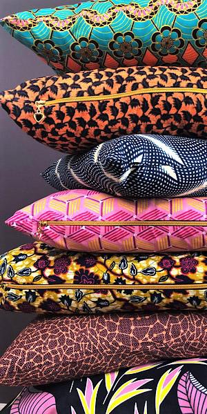 Puder med Afrikansk print - Mitomito.dk